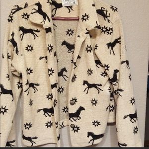 True Grit - beautiful horse cardigan